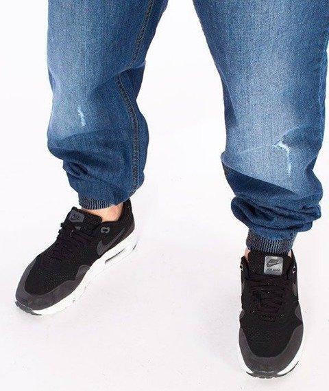 SmokeStory-Premium Jogger Jeans Regular Spodnie Wycierane z Przetarciami