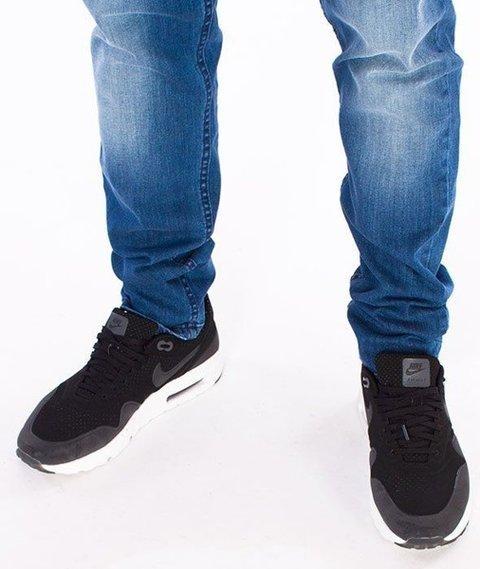SmokeStory-Premium Stretch Straight Fit z Gumą Spodnie Medium Cieniowane