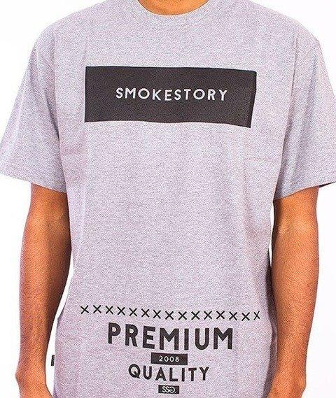 SmokeStory-Rectanagle T-Shirt Szary