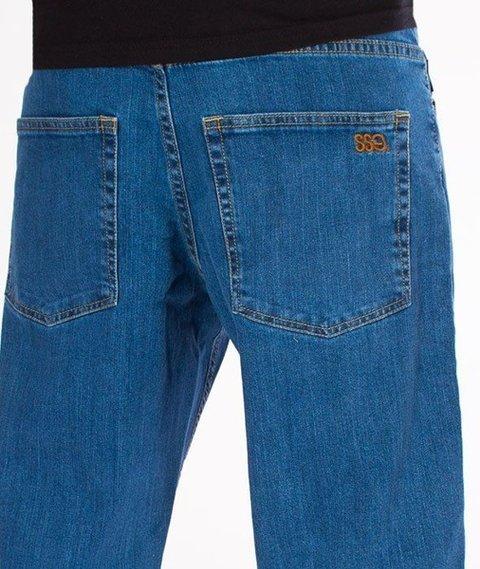 SmokeStory- SSG Haft Classic Regular Jeans Spodnie Light Blue