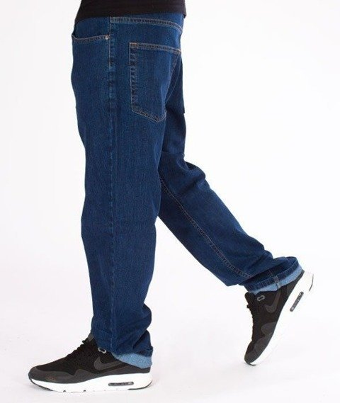 SmokeStory- SSG Haft Classic Regular Jeans Spodnie Medium Blue