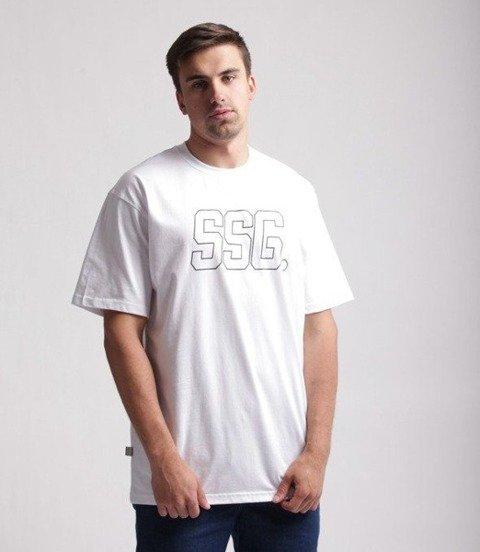 SmokeStory-SSG New Outline T-Shirt Biały