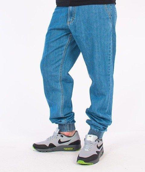 SmokeStory-SSG Tag Jogger Jeans Light Blue