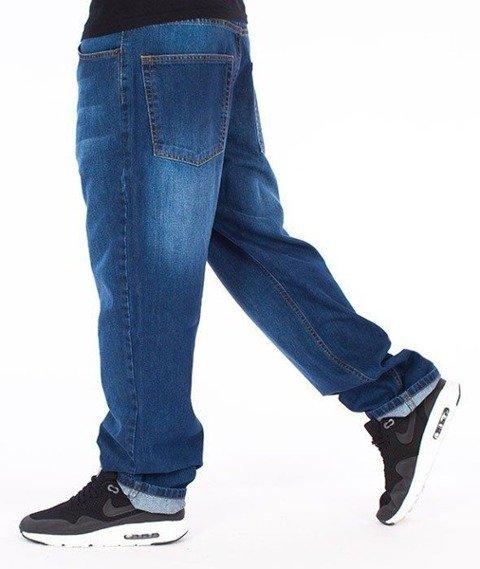 SmokeStory-SSG Tag Regular Jeans Spodnie Wycierane Niebieskie