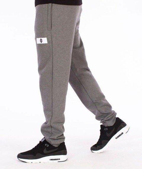 SmokeStory-Sign Slim Spodnie Dresowe Grafitowe