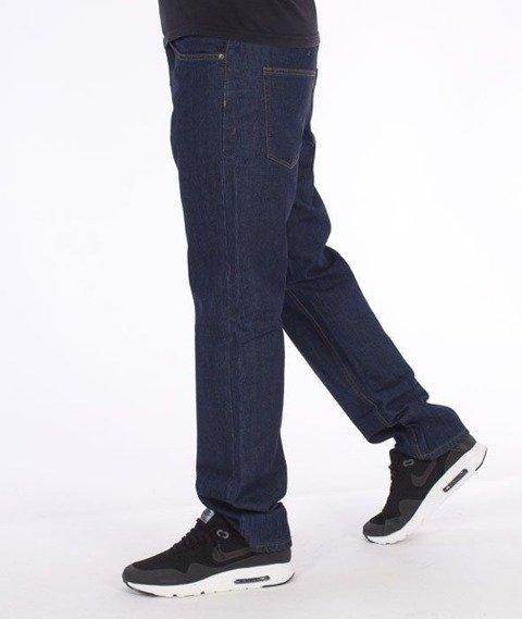 SmokeStory-Simple Slim Jeans Dark Blue