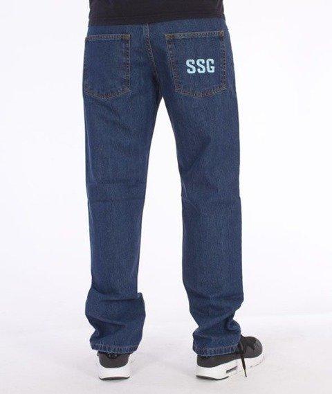 SmokeStory-Simple Slim Jeans Medium Blue