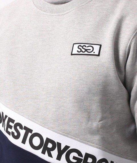 SmokeStory-Slant SMG Crewneck Bluza Szary Granat