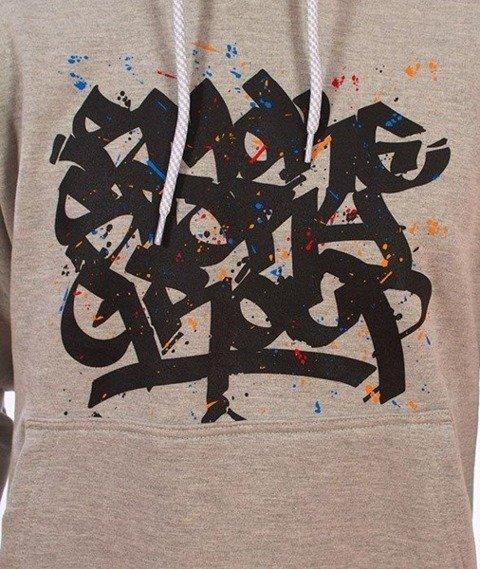 SmokeStory-Smoke Tag Colors Bluza Kaptur Szary