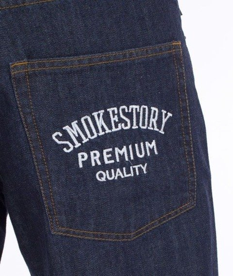 SmokeStory-SmokeStory Regular Jeans Dark Blue