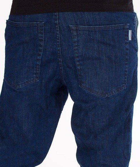 SmokeStory-Stretch Skinny Jeans Guzik Spodnie Medium