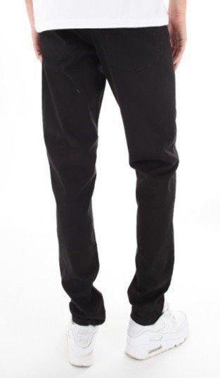 SmokeStory-Stretch Skinny Tkanina Guma Spodnie Czarne