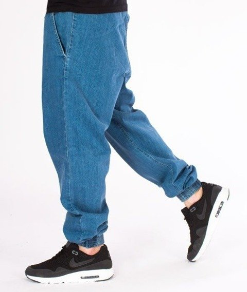 SmokeStory-Tag Jeans Jogger Regular Guma Spodnie Light Blue