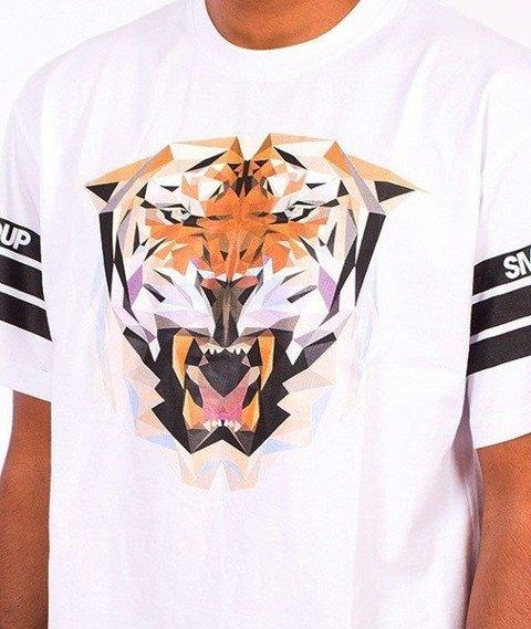 SmokeStory-Tiger T-Shirt Biały