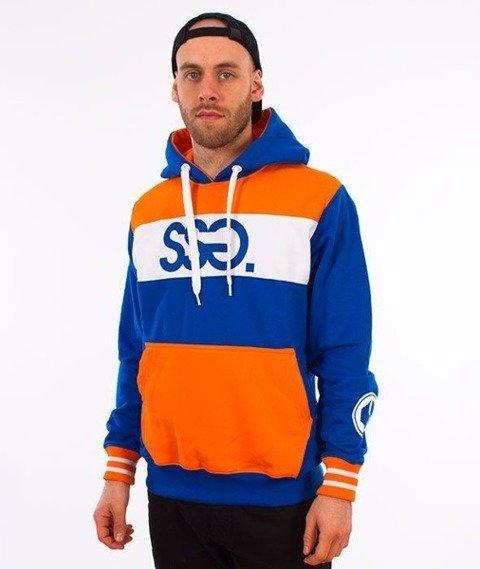SmokeStory-Triple Colors Premium Bluza Kaptur Granatowy/Pomarańczowy/Biały