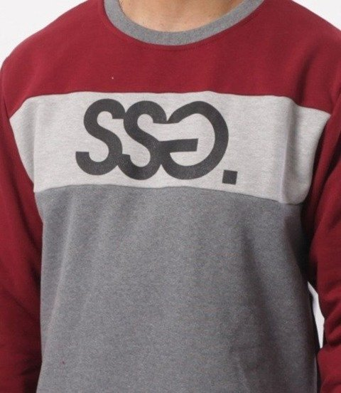 SmokeStory-Triple Colors SSG Bluza Szary/Bordo