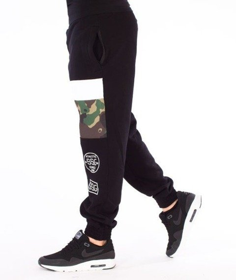 SmokeStory-Triple Street Moro Jogger Spodnie Dresowe Czarne