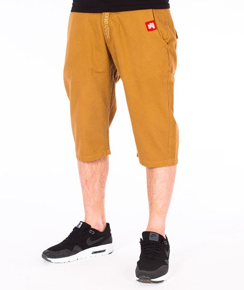 Stoprocent-Classic Chinos Spodnie Krótkie Beżowe