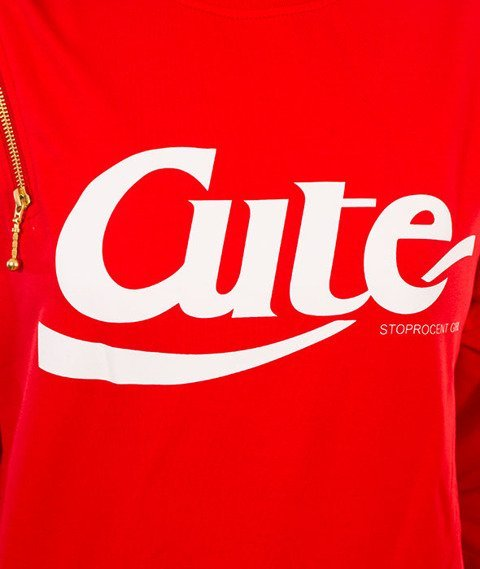 Stoprocent-Cute 17 Bluza Damska Czerwona