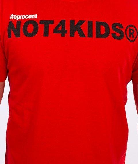 Stoprocent-Not4Kids Slim T-Shirt Czerwony