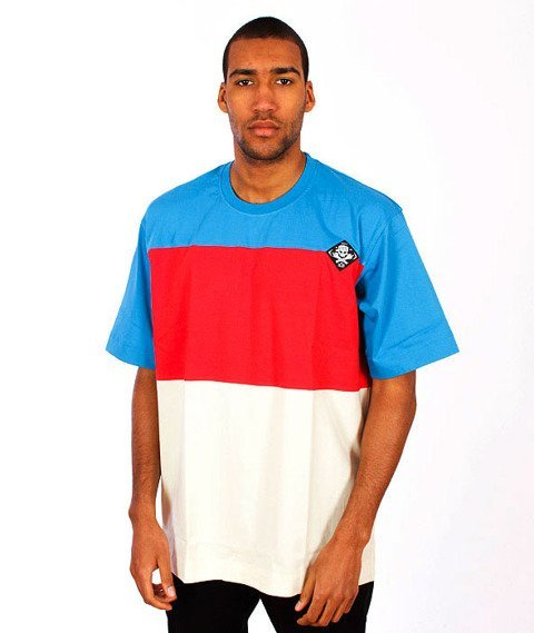 Stoprocent-Pasy T-Shirt Blue/Red/Beige