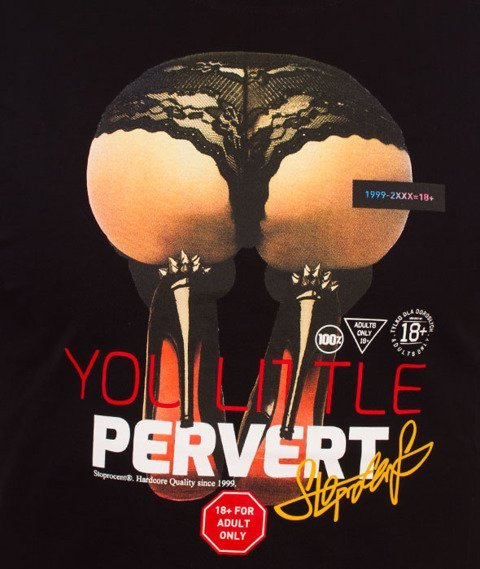 Stoprocent-Pervert T-Shirt Czarny