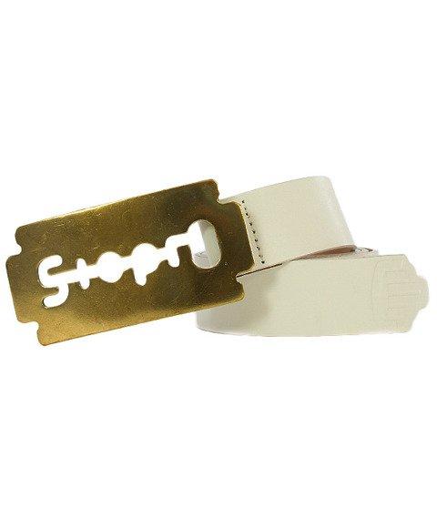 Stoprocent-Razor Pasek Biały/Złoty