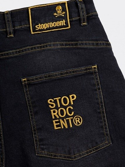 Stoprocent-SJ Carrot Warning Czarny Jeans