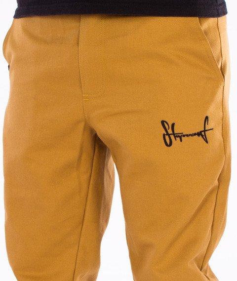 Stoprocent-SJ Classic16 Spodnie Jogger Beżowe
