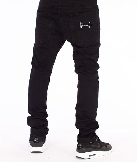 Stoprocent-Skinny Jeans Spodnie Czarne