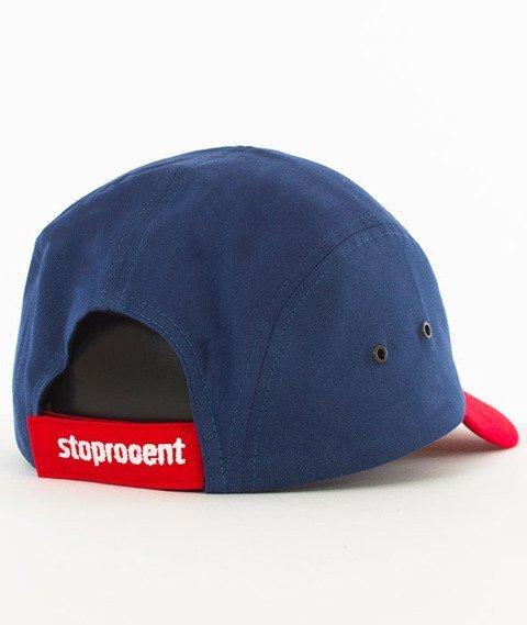 Stoprocent-Tag 5Panel Snapback Granatowy/Czerwony