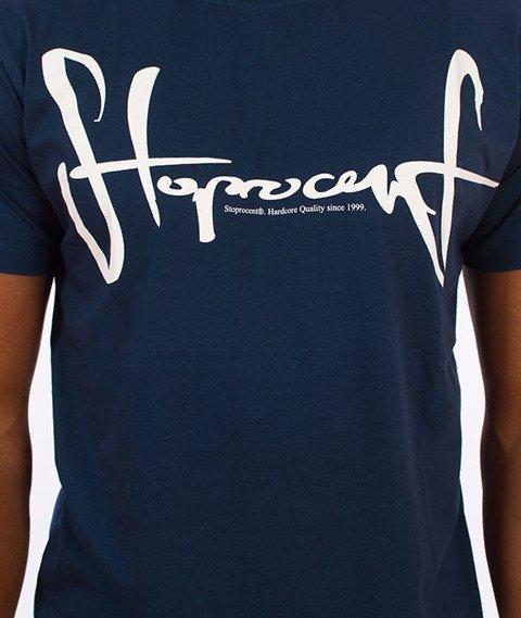 Stoprocent-Tag17 Slim T-Shirt Granatowy