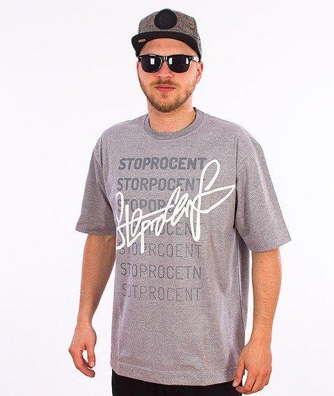 Stoprocent-Tagrandom T-Shirt Szary