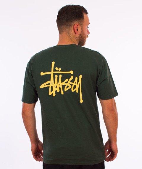 Stussy-Basic Stussy T-Shirt Dark Forest