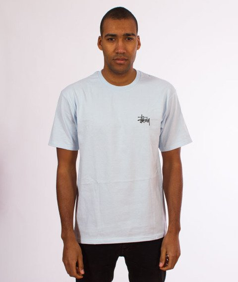 Stussy-Basic Stussy T-Shirt Light Blue
