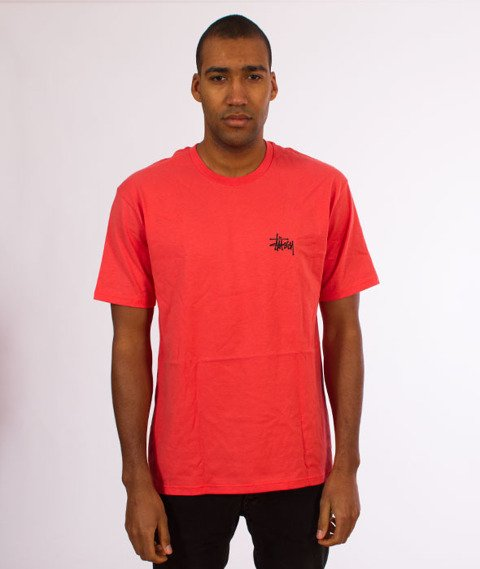 Stussy-Basic Stussy T-Shirt Rose