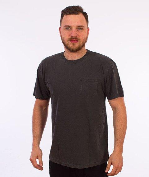 Stussy-Checker Stock Pig. Dyed T-Shirt Black