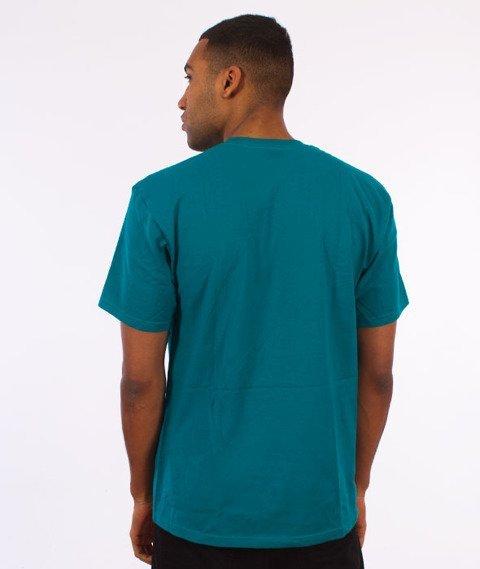 Stussy-Cracked T-Shirt Dark Teal