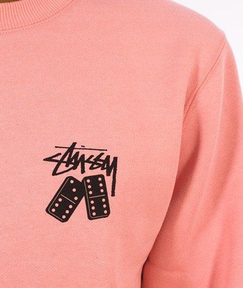 Stussy-Dominos Stussy Crewneck Bluza Dusty Rose