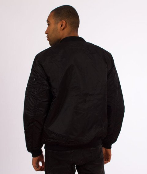 Stussy-Flight Satin Bomber Kurtka Black