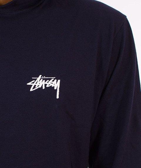 Stussy-Original Stock Hood Longsleeve Kaptur Navy
