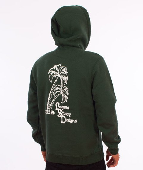 Stussy-Palms Applique Hood Bluza Kaptur Dark Forest