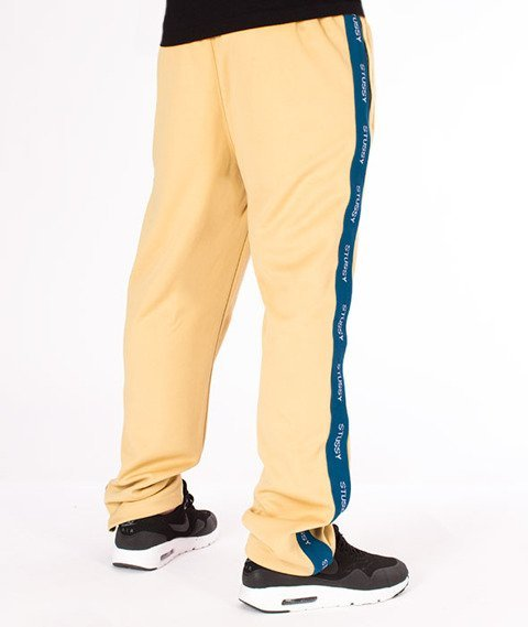 Stussy-Poly Track Pant Spodnie Dresowe Khaki