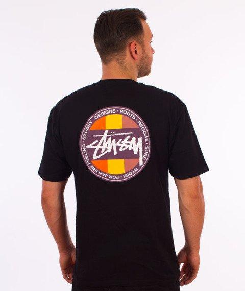 Stussy-Reggae Surf Dot T-Shirt Black