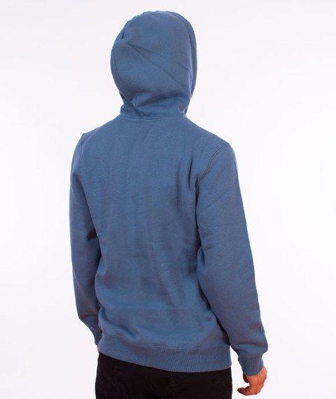 Stussy-Smooth Stock Hood Bluza Kaptur Steel