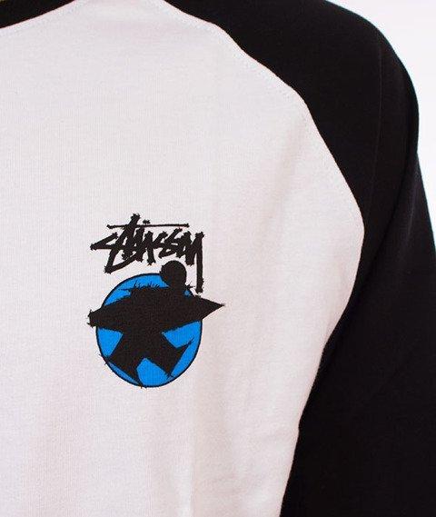 Stussy-Surfman Dot Raglan Jersey Black
