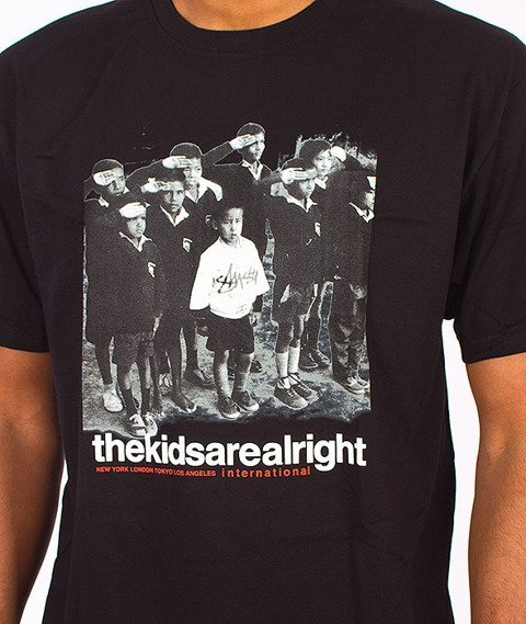 Stussy-The Kids Are Alright Tee Black