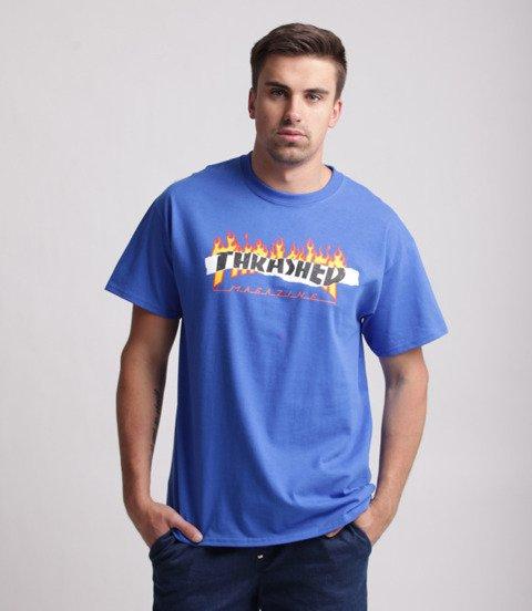 Thrasher Ripped T-Shirt Niebieski