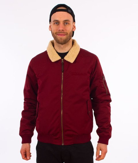 Turbokolor-Bomber Jacket Burgundy