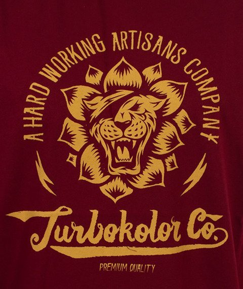 Turbokolor-Lotos T-Shirt Burgundy